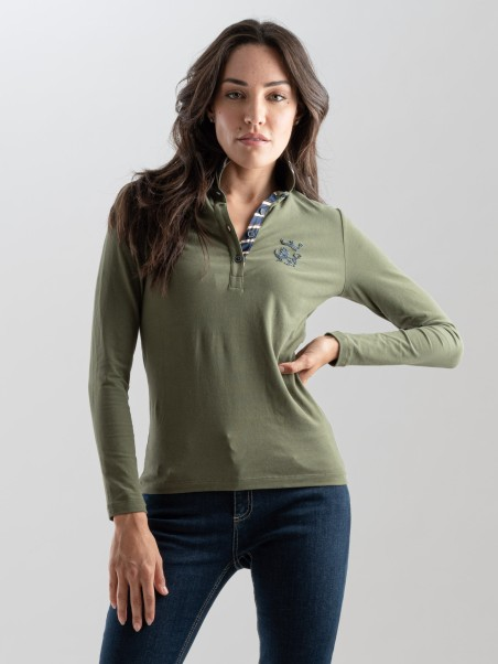 Polo donna in jersey