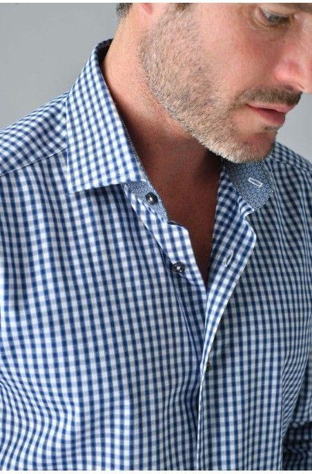 Camicia uomo quadretto