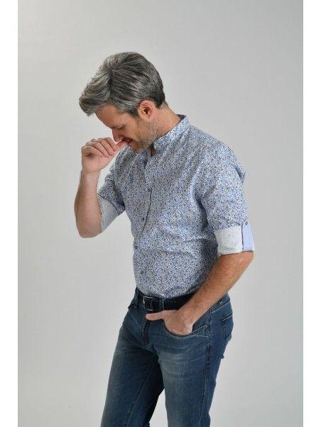 Camicia uomo collo coreana