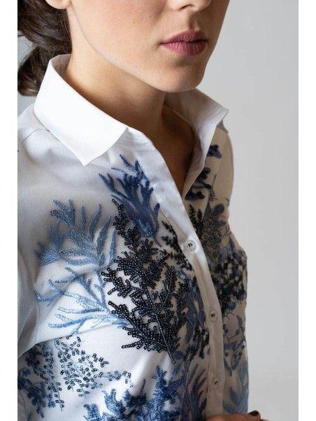 Camicia donna con ricami