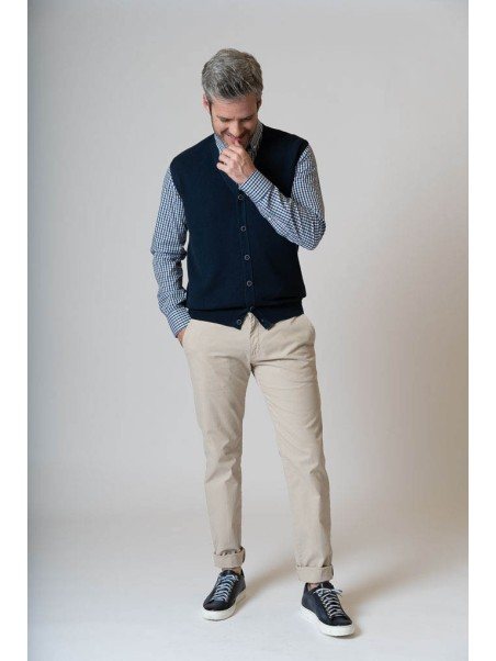 Gilet in maglia di cotone