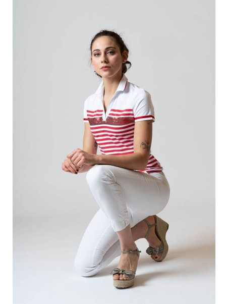 Polo donna a righe