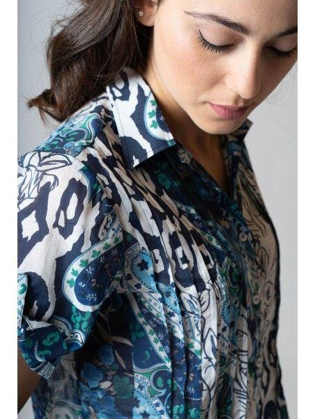 Camicia donna manica corta