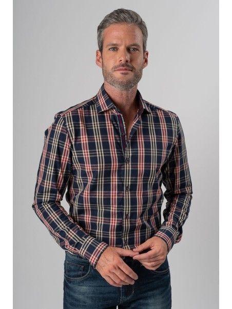 Camicia uomo madras