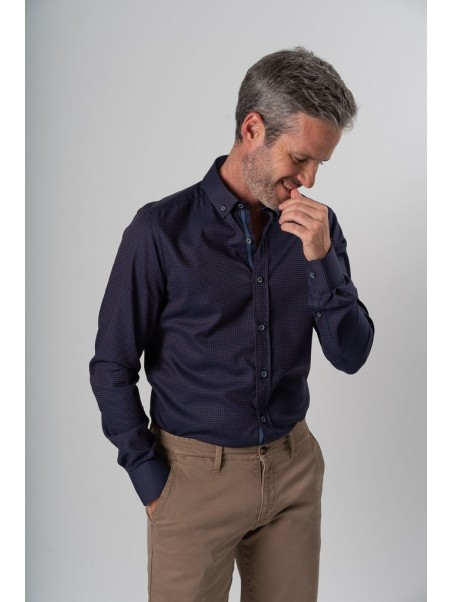 Camicia uomo bicolor