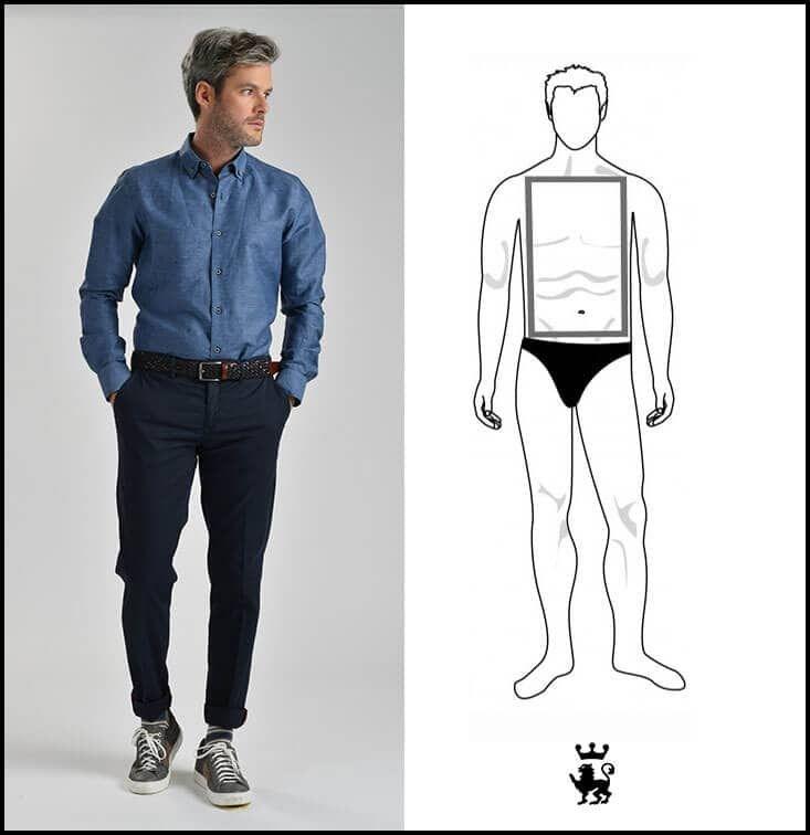 Pantaloni giusti per uomo basso