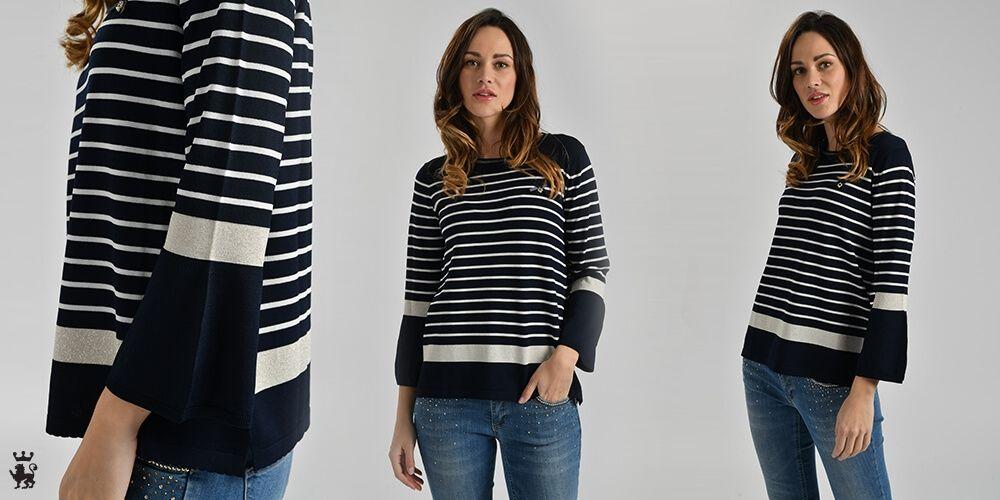 """31585df0c0 Come indossare la maglia a righe? I trucchi per un look """"alla ..."""