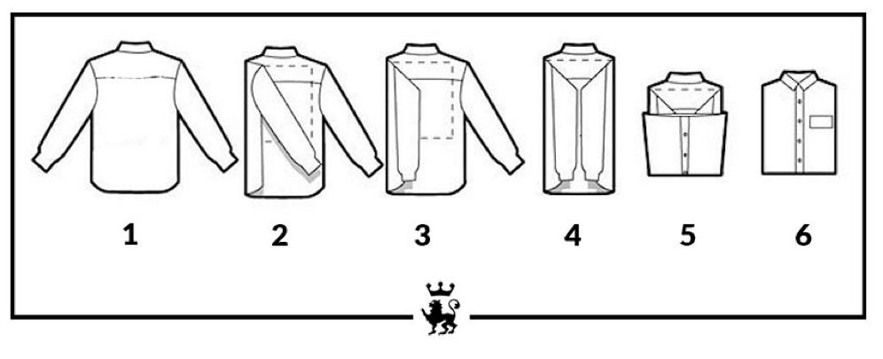 Come piegare la camicia da mettere in valigia Camiceria
